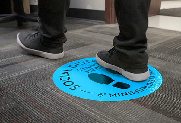 Environmental Floor Graphic for Social Distancing