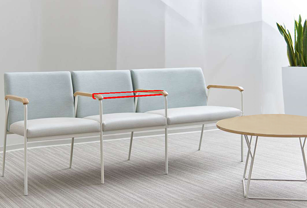 Waiting Room Chairs with Sectioned Seating