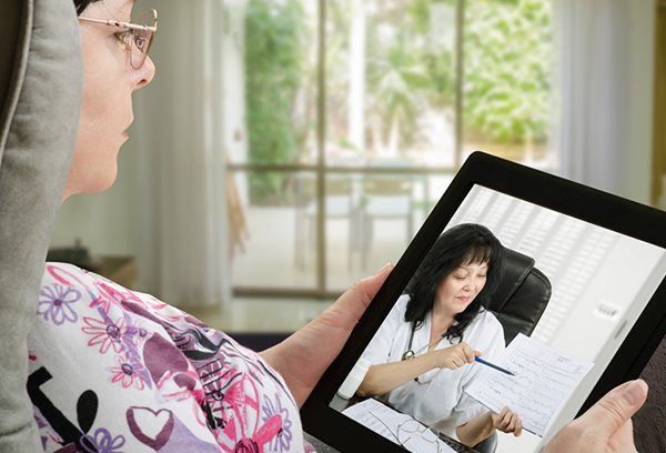 Patient Having Virtual Appointment